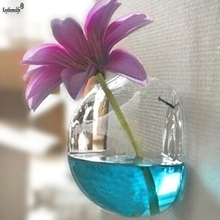 Wall Decor Semicircular Wall Hanging Glass Plant Flower Vase Hydroponic Terrarium Fish Tank Wedding Decoration BF