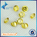 Factory Price 100pcs 3.5~12mm 5A Golden Yellow CZ Brilliant Round Cut Crystal Material Zircon Stone Lab Greated Gems