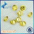 Preço de fábrica 100 pcs 3.5 ~ 12mm 5A Amarelo Dourado CZ Rodada Brilhante Corte de Zircão Pedra de Cristal Material de Laboratório Greated Gemas
