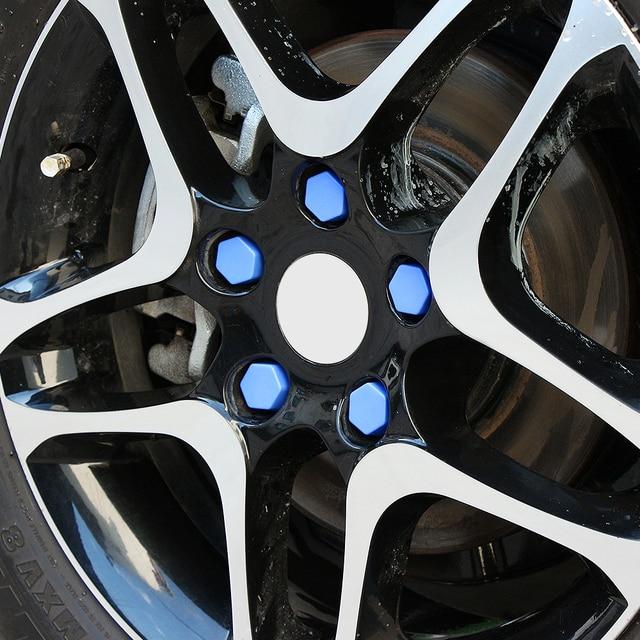 Parafuso da roda automotiva silicone protetora cap Para Mercedes-Benz A180 A200 A200 A250 A260 B180 B200 AMG CLA GLA