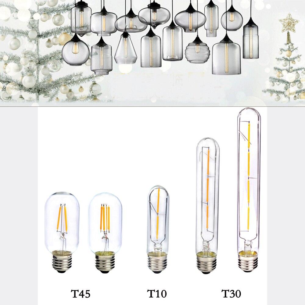 E27 COB LED Vintage Retro Edison Filament Antique Industrial Style T30-185 T30-225 T10 T45 Led Specialty Decorative Light Bulbs led filament retro edison bulbs 220v t300 e27 4w warm white 400lm cob led edison lamps