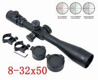 8 32X50 SF RGB Illuminated Mil dot Riflescope Hunting Shooting Rifle Gun Scope Military Tactical Telescopic Sight w/ 20mm Rail