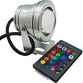 DC12V 10 W RGB Led Luz Subacuática IP67 A Prueba de agua Piscina Luces Cambiante de 16 Colores + 24 llaves Led Controlador