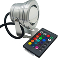 DC12V 10W RGB Led Underwater Light IP67 Waterproof Swimming Pool Lights Changeable 16 Colors+24keys Led Controller