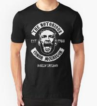 2016 neue ankunft MMA casual T Shirts Conor Mcgregor kurzarm T Kurzarm Baumwolle o hals Mann Tops