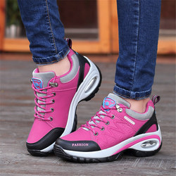 shoes woman Outdoor Casual shoes Leather suede Brand fashion Sneakers woman outdoor non-slip air damping tenis feminino casual 3