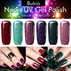 Bukio Neon Gel Polish Emerald Green Color Nail Art Semi Permanent Gel Varnish Primer for Nails Manicure Uv Lamp Gel Nail Polish