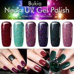 Bukio неоновый гель-лак изумрудно-зеленый цвет дизайн ногтей полуперманентный гель-лак Лаки праймеры для ногтей Маникюр УФ лампа гель лак для