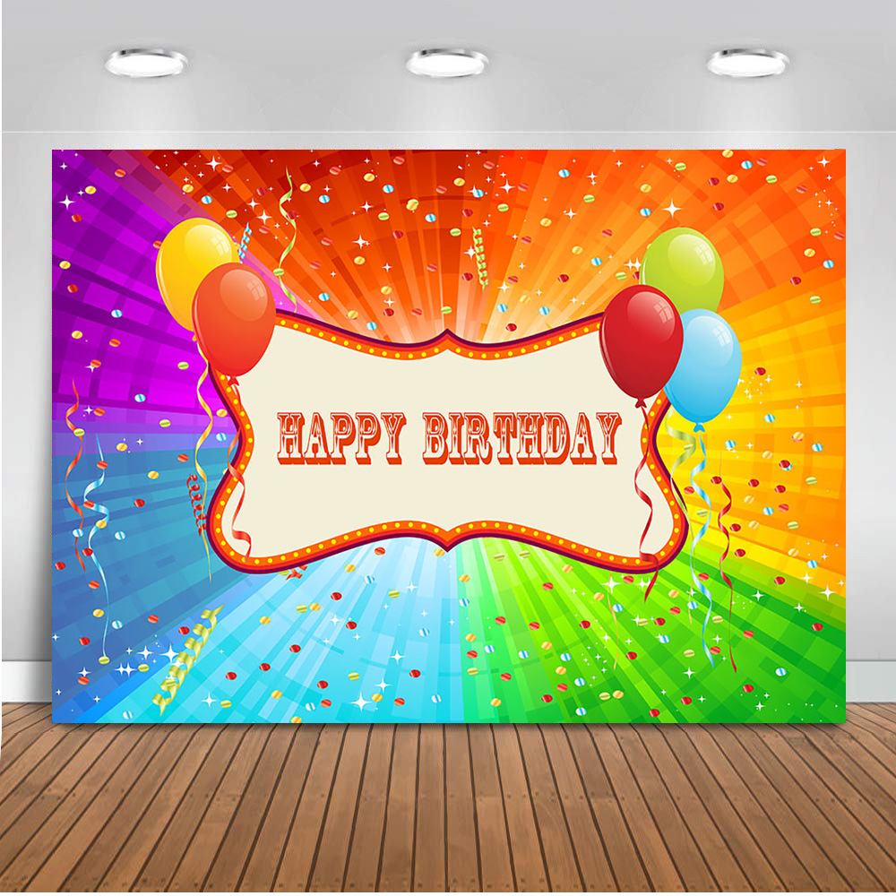 Neoback Happy Birthday Trolls Background For Photography Party Decoration Banner Kids Birthday Theme Parties Background 539