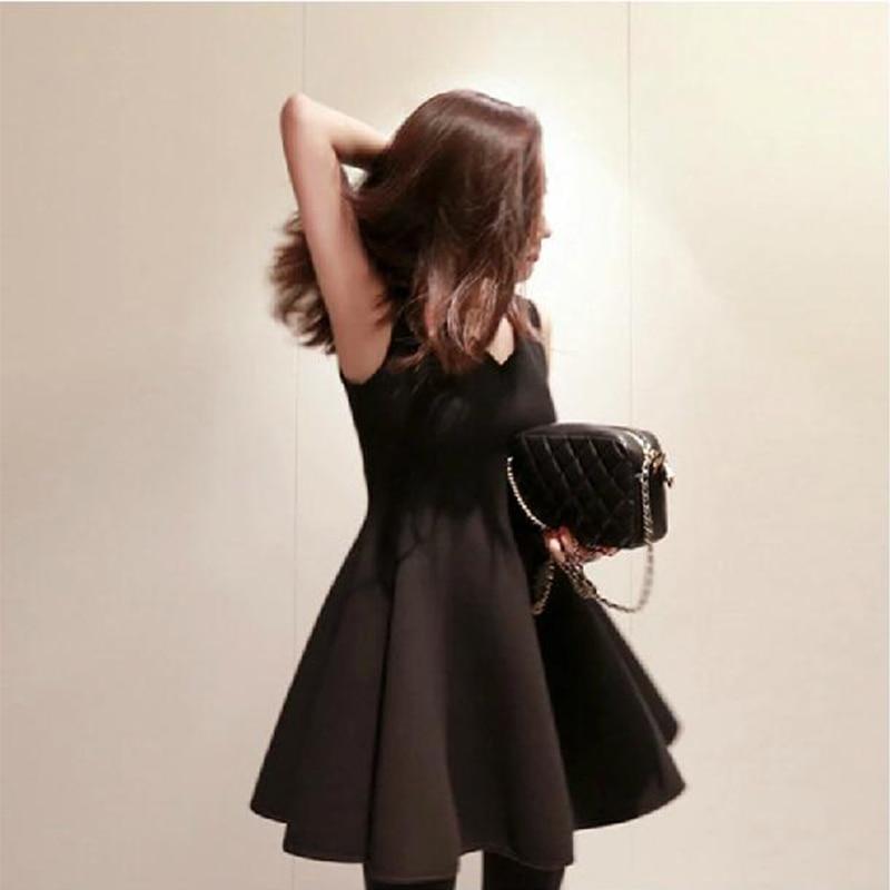 Vintage Style Audrey Hepburn Little Black Dress New Slim Women Black Plus  Size S XXXL Party Pinup Rockabilly A line Dresses-in Dresses from Women s  Clothing ... 28bc3bd22810
