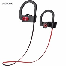 Original Mpow 2017 Bluetooth 4.1 Headphones IPX7 Waterproof Earbuds Wireless Sports Earphones Music for iOS Android