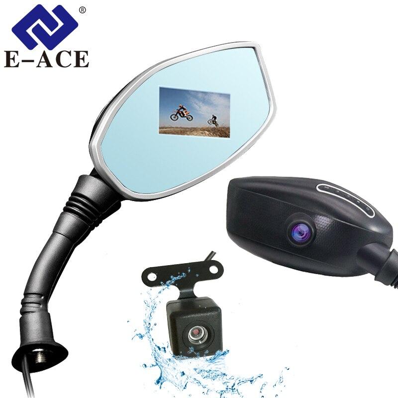 E-ACE мотоцикл Dvr зеркало заднего вида камера Авто Цифровой Видео регистраторы мотоцикл регистраторы двойной объектив видеокамера Авто Регис...