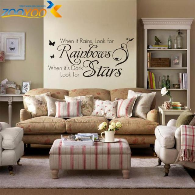 Home Decoration Quotes Wall Decals Bedroom Zooyoo8140 Living Room Wall Art  Removable Vinyl Diy Wall Stickers