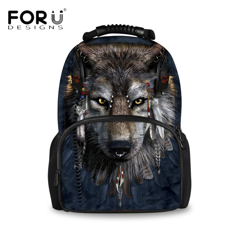 f386587069 FORUDESIGNS 3D Animal Pattern Men Felt Backpacks for Teenager Boys Travel  Laptop Backpack Daily Bagpack Large Mochila Infantil
