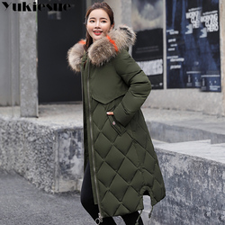 2018 New Winter Jacket Women Faux Fur Hooded Parka Coats Female Long Sleeve Thick Warm Snow Wear Jacket Coat Mujer Quilted Tops 6