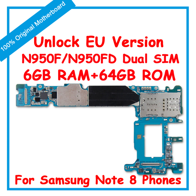 US $208 0 |Original MainBoard For Samsung Galaxy Note 8 N950F N950FD Unlock  Motherboard With Chips IMEI Android OS Logic Board-in Mobile Phone Antenna