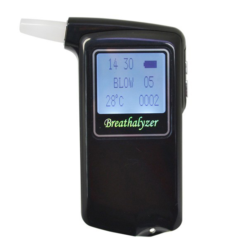 Newest high accuracy Prefessional AT 868F for driving Police Digital Fuel cell sensor breath alcohol tester