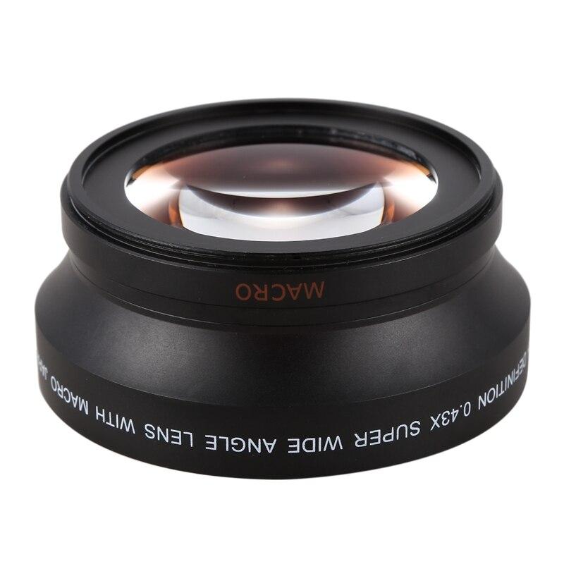 72 MM 0.43x verre Pro HD grand Angle objectif f/EF 135mm f/2L USM, EF 50mm f/1.2L USM, EF 85mm f/1.2L II USM, sigma Lenses-18-300mm f/3