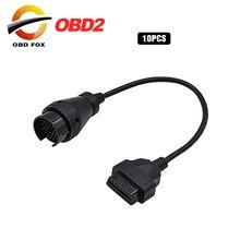10ชิ้น/ล็อตสำหรับ Benz 38 Pin ถึง16 Pin สายเคเบิลอะแดปเตอร์สำหรับ Bzen 38pin Obd1ไปยัง Obd2สายเชื่อมต่อ Top ขายสต็อก