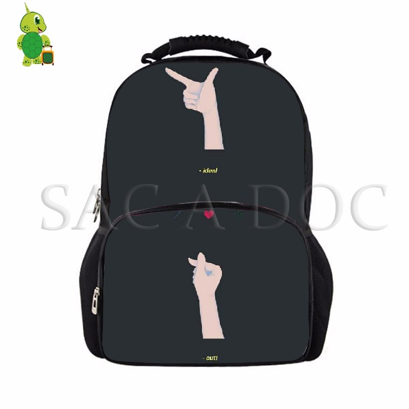 Helpful 2018 New Seventeen Han Fan Fashion Men And Women Student Backpack And Leisure Backpack Men's Bags