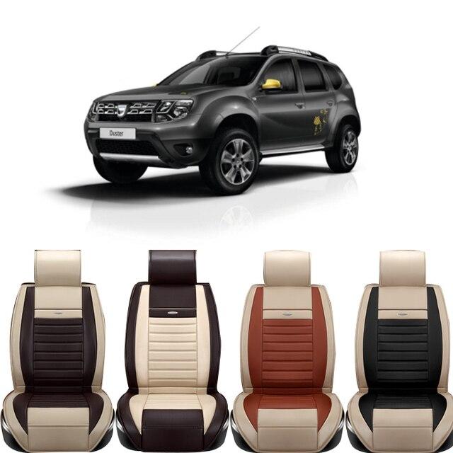 Haute qualité cuir spéciale housses de siège de voiture pour Dacia Sandero  Duster Logan noir /