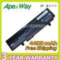 Apexway 4400 mah bateria do laptop preto para asus eee pc 1015 1015 p 1015pe 1016 1016 p 1215 a31-1015 a32-1015 al31-1015 pl32-1015