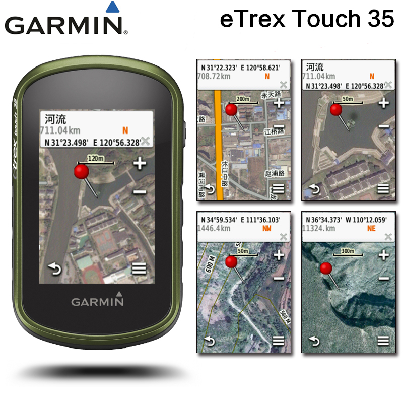 Garmin eTrex Touch 35 Handheld Hiking GPS GLONASS Satellite Navigation Outdoor Navigator Measurement Wireless Transmission