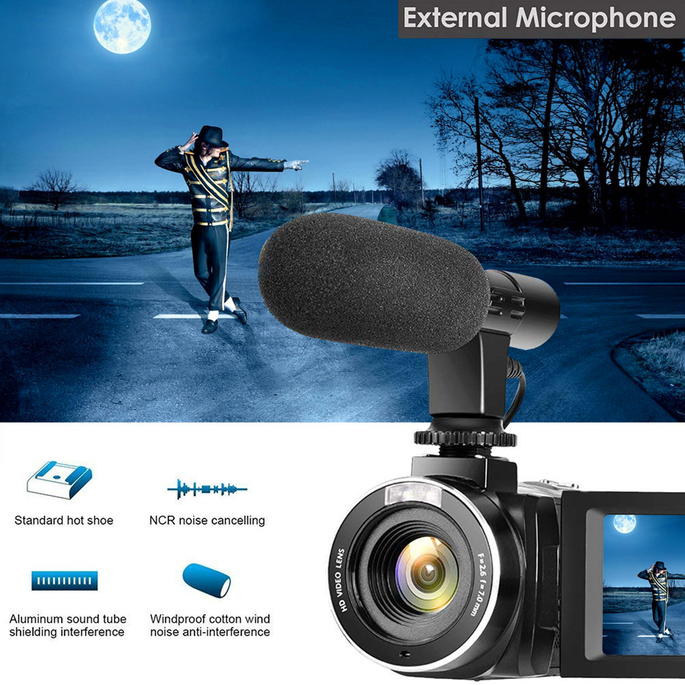 KOMERY 4K Camcorder Video Camera Wifi Night Vision 3.0 Inch LCD Touch Screen Time-lapse Photography Camera Fotografica With Micr 4
