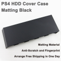 Universal HDD hard Disc Drive cover Case Faceplate for Playstation 4 PS4 CUH-1000 to 1200 With Silver logo - Matt Black (OEM A)
