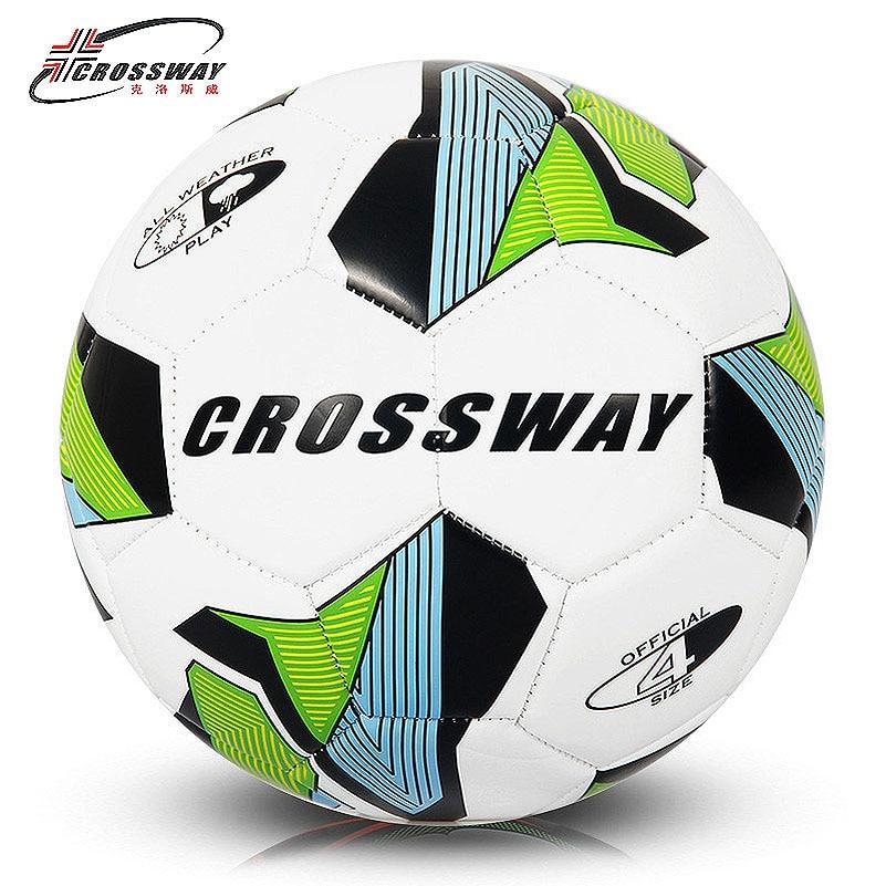 CROSSWAY Brand Soccer Ball Football Ball Size 4 Official Anti-slip PU Slip-Resistant Standard Match Training Champions Football