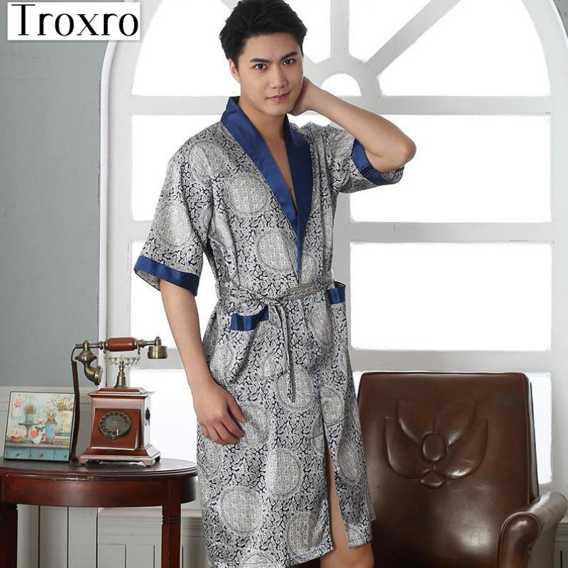 provide plenty of harmonious colors classic shoes Bathrobe Men Half Robe Regular Sleeve Bathrobes Man Luxury ...