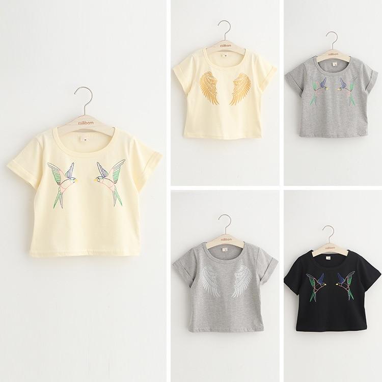 a455f3dd6 الشحن مجانا ، حار بيع ملابس الطفل ملابس الطفل صبي فتاة ، الطيور ، أجنحة تي  شيرت ، أزياء ، الصيف ، قمم و تيز ، الكورية ، الاطفال ارتداء