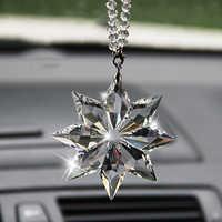Auto Anhänger Transparent Kristall Schneeflocken Dekoration Suspension Ornamente Sun Catcher Schneeflocke Hängen Trim Weihnachten Geschenke