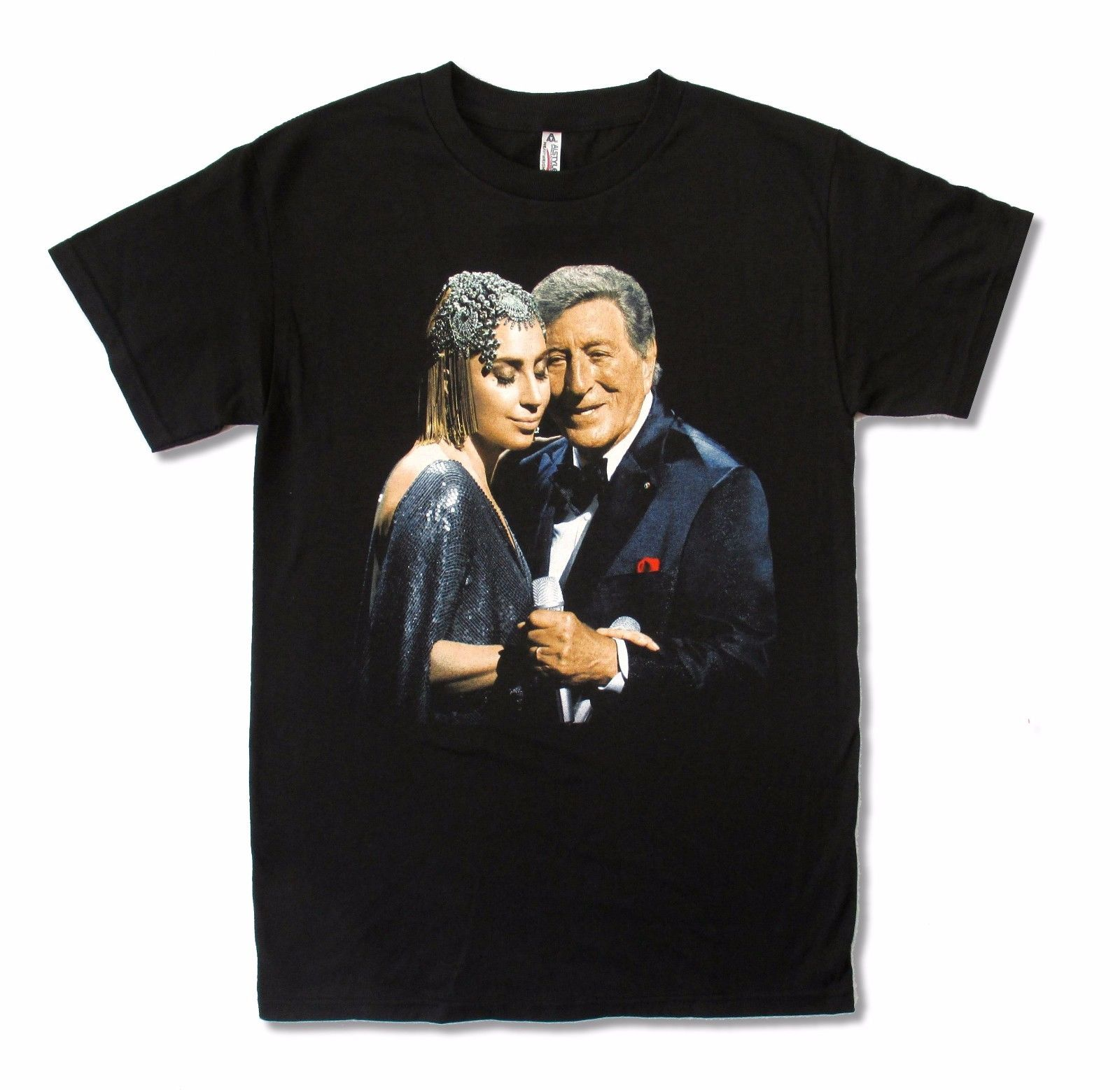 Lady Gaga Tony Bennett Cheek To Cheek Tour Uomo Camicia nera Top T - Abbigliamento da uomo