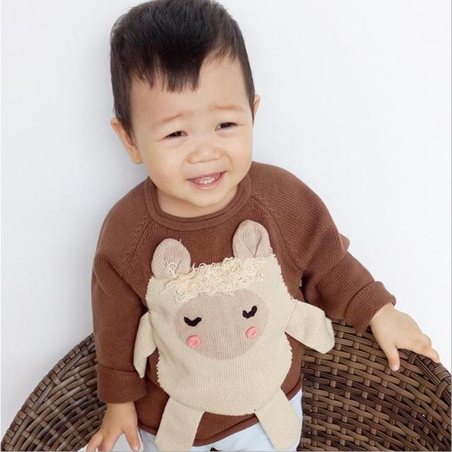 2015 Niños del Resorte del Suéter Otoño Rebeca de Las Muchachas Niños Del O-cuello Suéteres suéteres de Las Muchachas Envío Gratis