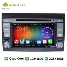 Quad Core WIFI 3G RDS Android 5.1.1 7INCH HD 1024*600 Car DVD Player Screen Radio Audio Stereo GPS PC For Fiat Bravo 2007-2014