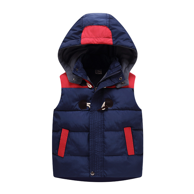Children Vest Girl Boys Waistcoat Kids Clothes Toddlers Thick Coat Autumn Winter Baby Hooded Padded Warm jacket Outerwear&coat baby boy outerwear warm fleece vest kids hooded jacket coats autumn children clothes windproof hoody vest baby girl waistcoats
