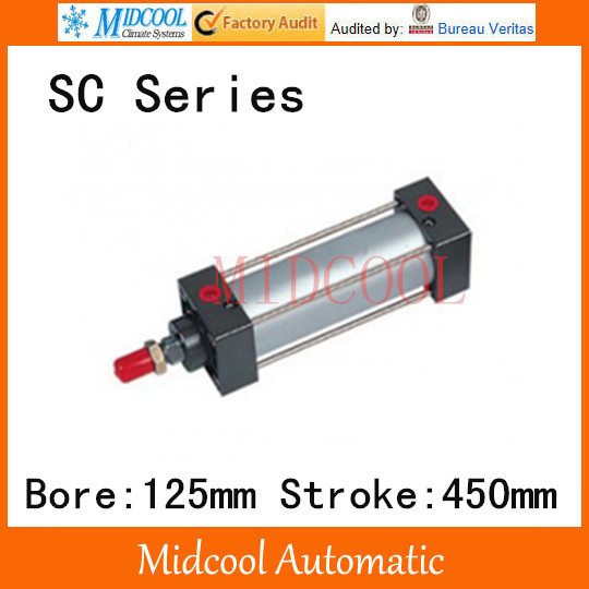 SC series standard Adjustable cylinder SC125*450 single rod double-acting air compressor piston hydraulic cylinder 38mm cylinder barrel piston kit