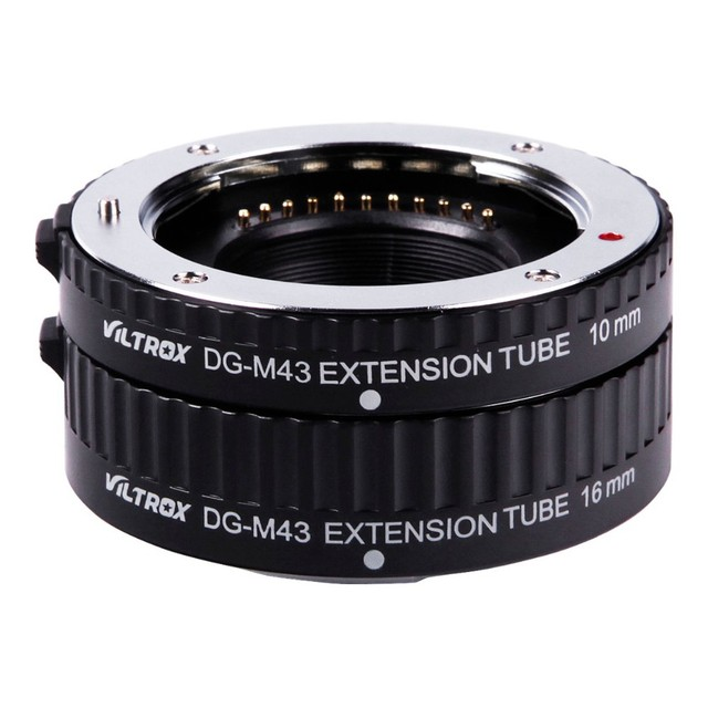Viltrox AF Macro Extension Tube Metal Mount Rings Auto Focus for Micro 4/3 M4/3 MFT DG-M43 for Olympus E-P1 E-P2 Panasonic Lens