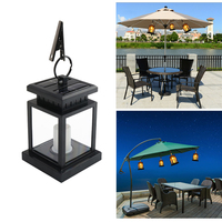 Outdoor Solar Power Yellow LED Candle Light Yard Garden Decoration Tree Lantern Hang Hanging Lamp