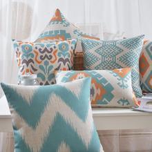 Геометрические подушки Nordic свежий абстракция подушки Белье подушки талия бросьте подушки главная декоративные диванные подушки