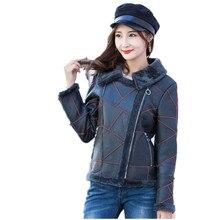 Genuine sheepskin coats womens real fur coat shearling jacke