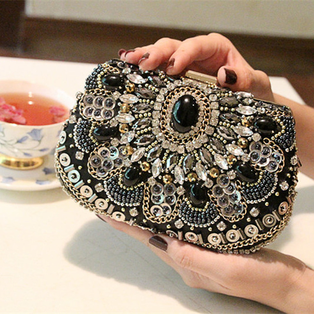 2016 Women Evening Bags Beaded Wedding Handbags Clutch Purse For Day Clutches With Chain