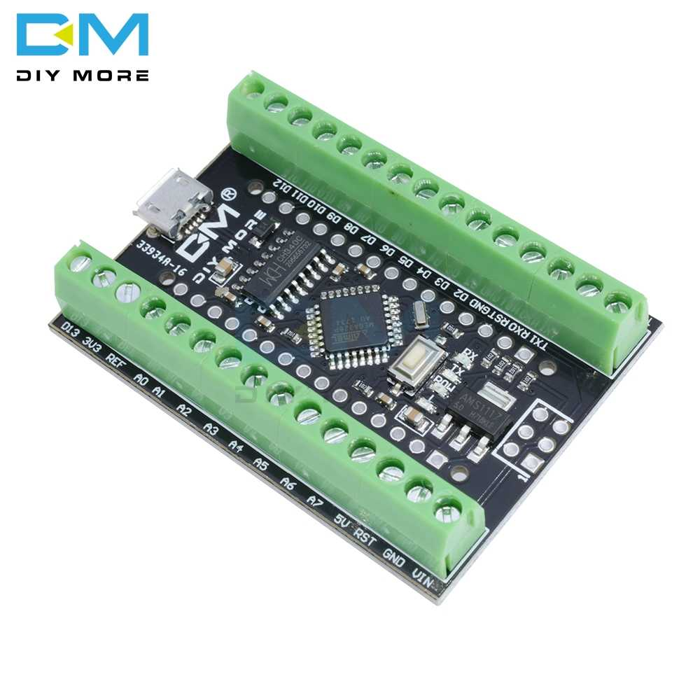 Atmega328P Nano V3.0 3.0 CH340G CH340 Lái Xe Nhà Ga Adapter Mở Rộng Ban Micro Bộ Điều Khiển Module Arduino Micro USB