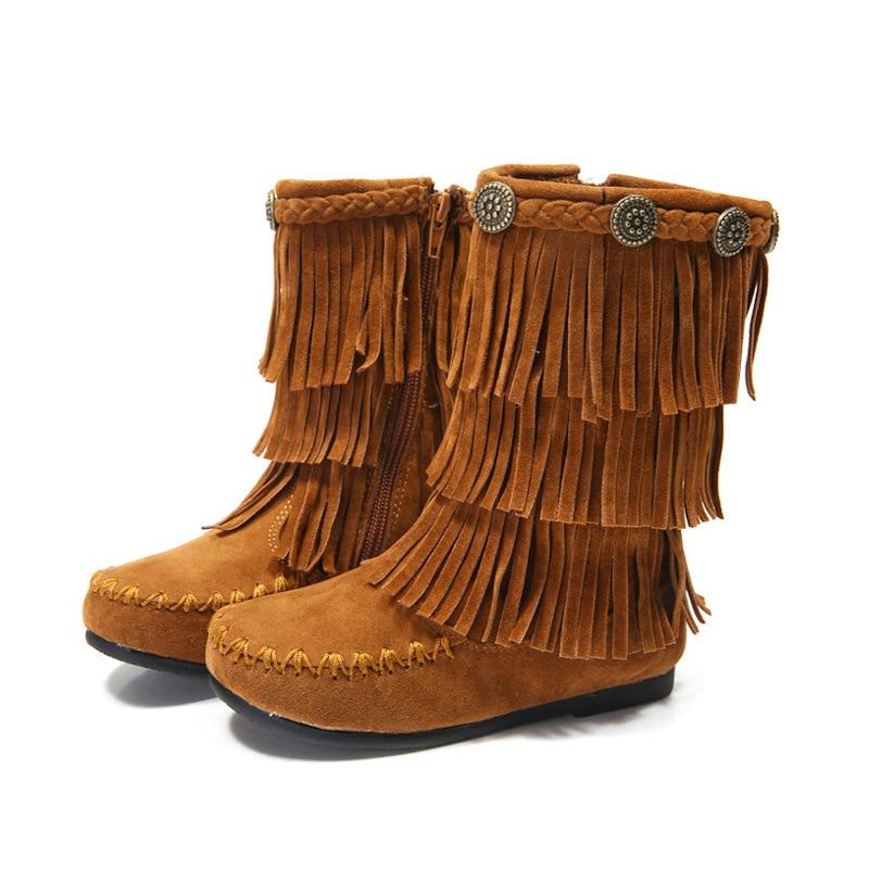 botas flecos leather zara kids