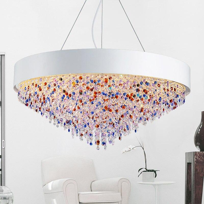 Nordic Kristall Pendelleuchte Moderne Grosse Bunte Led Beleuchtung Hochwertigen Wohnzimmer Restaurant Kreisfrmig Oval Lampen