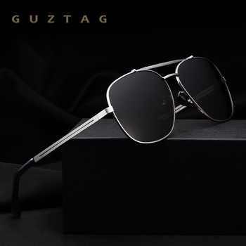 GUZTAG Fashion Classic Square Men's Polarized Sunglasses Stainless Steel Designer HD Eyewear Sun glasses UV400 For Men G2493 - DISCOUNT ITEM  45% OFF All Category