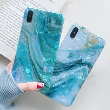 CYATO Luxury Marble Case For iPhone XS Max XR X 6 6S 7 8 Plus Cover Shell Pattern Soft TPU Coque Capa