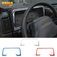 BAWA Interior Mouldings for Jeep Wrangler TJ 1997 2006 Second Generation Dashboard Decoration Cover Stickers for Wrangler tj