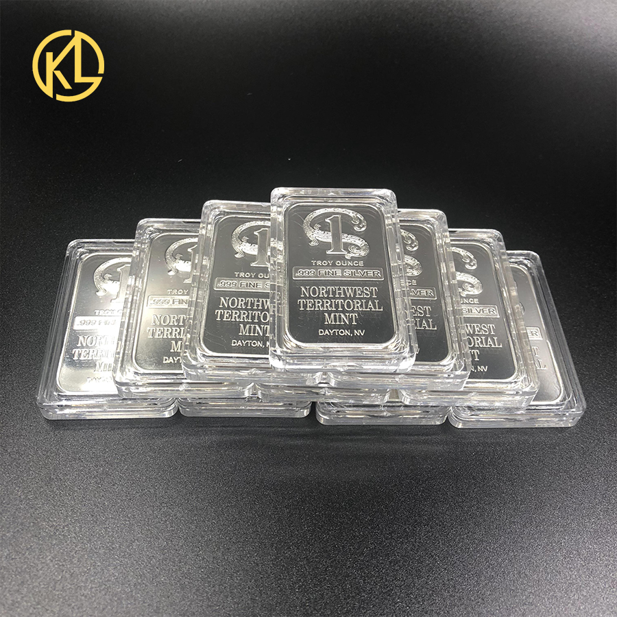 CO025 10pcs TROY OUNCE 999 FINE Silver Plated Metal Bar Northwest Territorial Mint Art Crafts Bullion Bar Coin for Collection